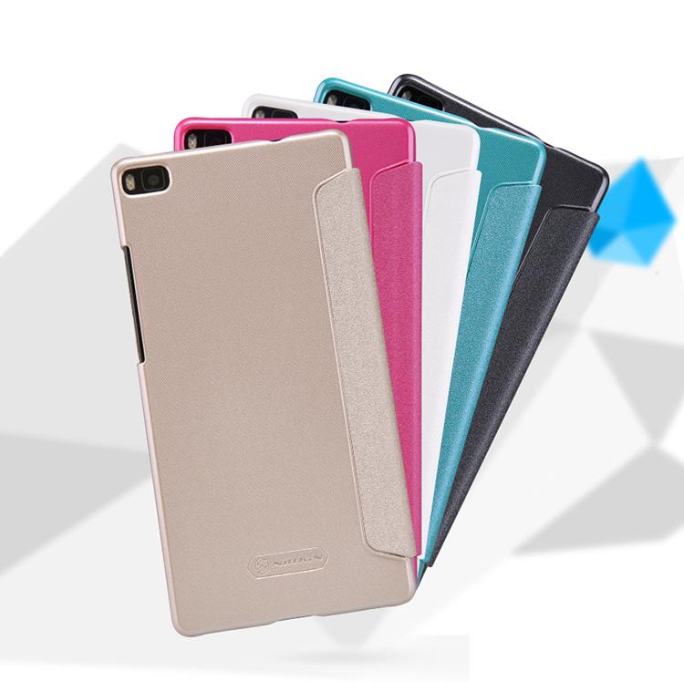 Кожаный защитный чехол книжка Nillkin Sparkle Leather Case Series для Huawei Ascend P8