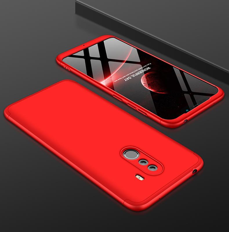 the best attitude 6d815 da235 Чехол бампер GKK Dual Armor Case для Xiaomi Pocophone F1 Red (Красный)